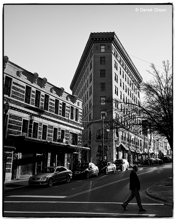 The Flat Iron Building in Asheville, North Carolina