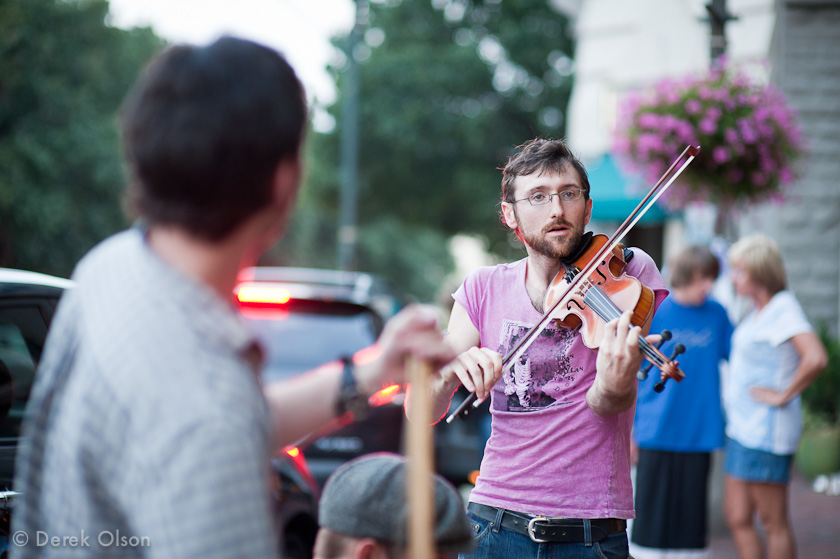 Fiddle player in Asheville, NC