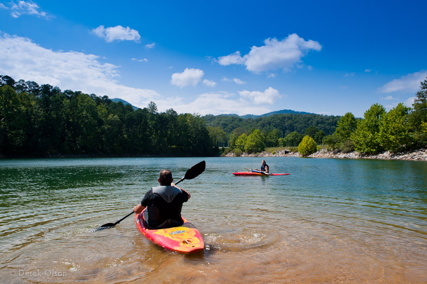 Kayakers in Bryson City, NC