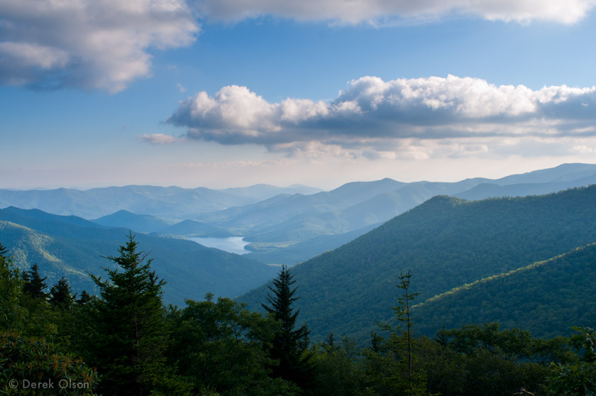 View of western North Carolina's mountains