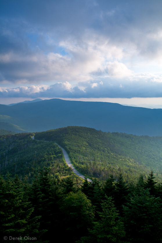 View from the observation deck on Mt. Mitchell