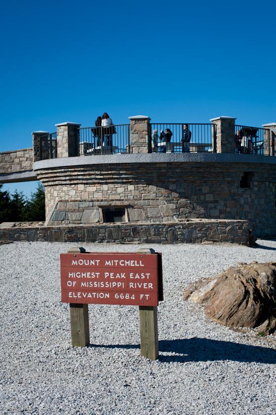 Observation Deck on Mt. Mitchell