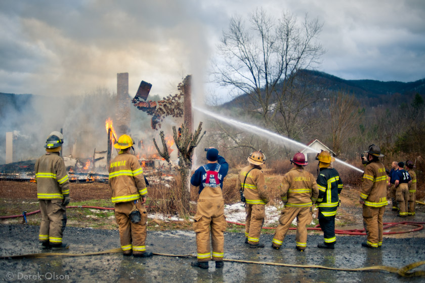 Fire in Swannanoa NC