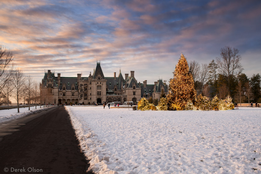 Biltmore Estate in the snow