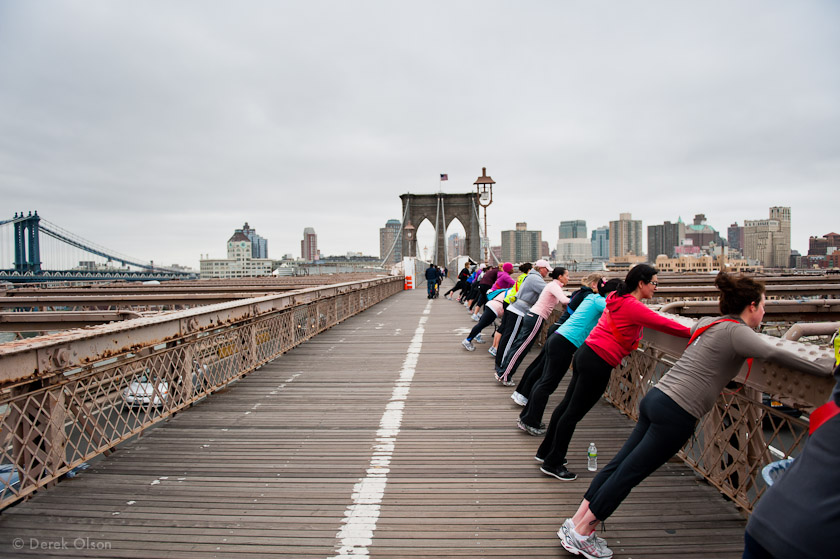 Brooklyn Bridge runners