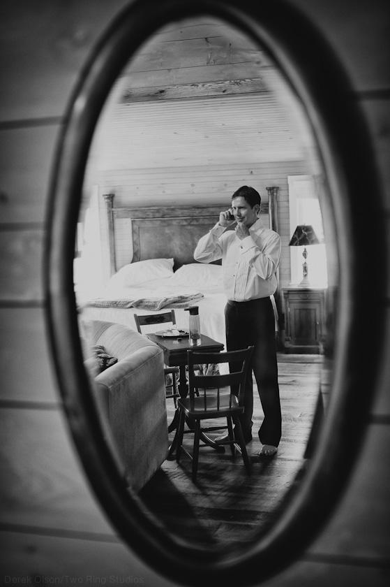 Groom reflection
