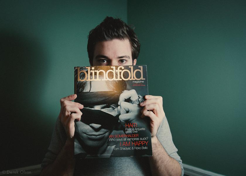 Derek Olson holding Blindfold Mag