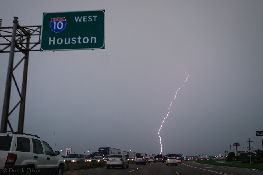 Lightning strikes in Texas