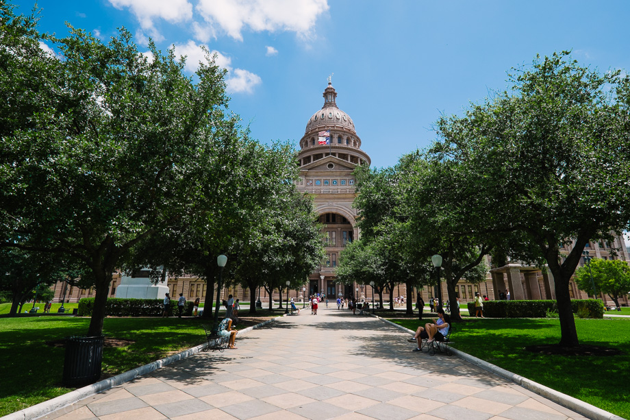 Exterior of Texas Capitol