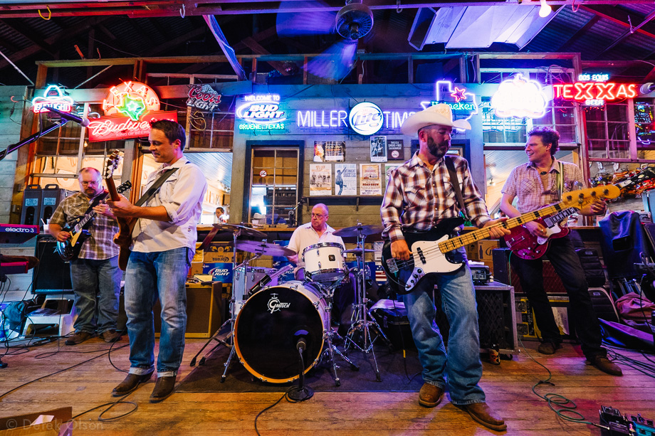 Band playing in Gruene Hall