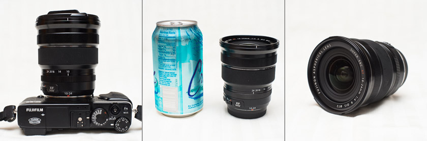 Size of Fuji 10-24mm lens