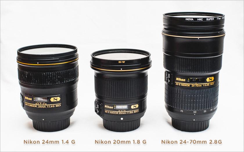 Nikon lens size comparison