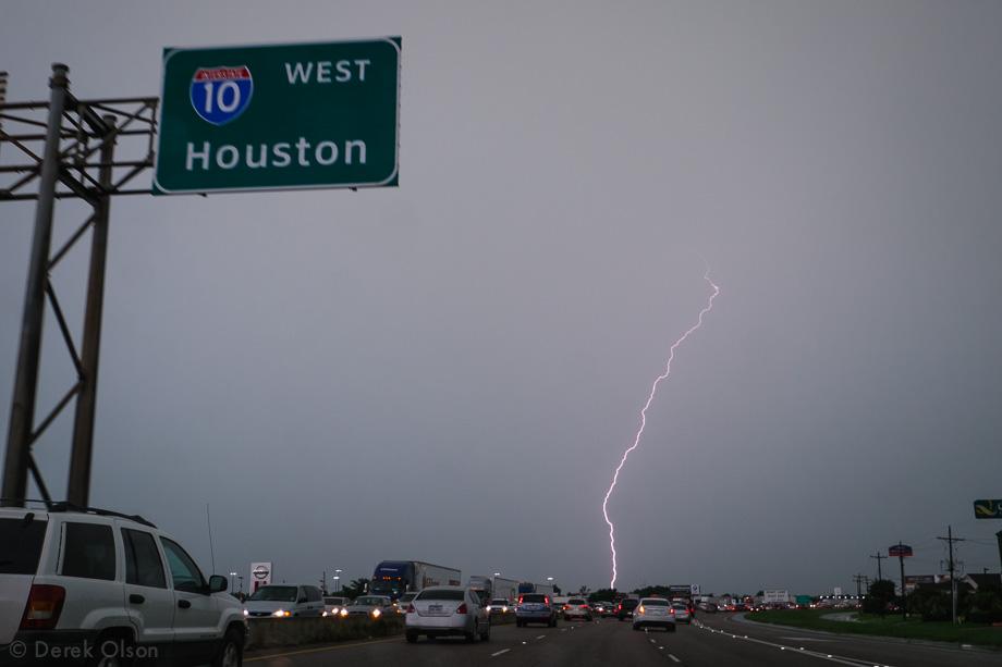 Lightning strikes in Texas