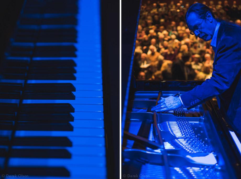 blue piano
